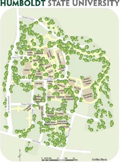 Humboldt State Map Humboldt State University Map   Cartography By Griffin Block Humboldt State Map